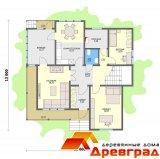 Дом «Ногинск» - каркасный деревянный дом