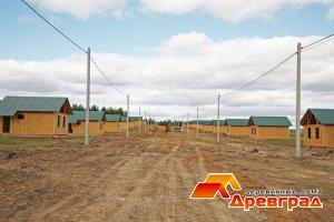 Начало строительство поселка – фото с правительственного вертолета