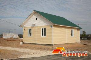 Построенный в поселке дом 62 м2