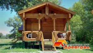 Построенные на базе отдыха домики для туристов