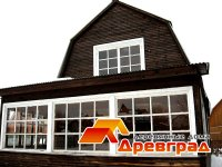 Старый деревянный дом до ремонта