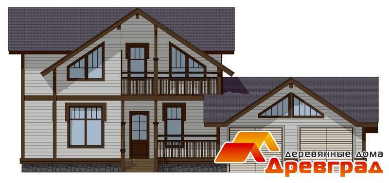 Деревянный дом мезонин каркасная