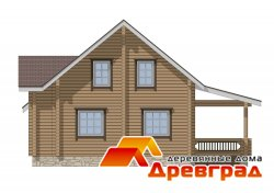 Деревянный дом из клееного бруса Введенское лучший материал для строительства