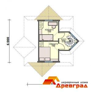 Деревянный коттедж «Даниловское» каркасный дом