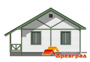 Деревянный каркасный дом «Амирово»