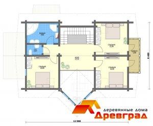 Лучший дом из профилированного бруса Спасское Оригинальная конструкция крыши