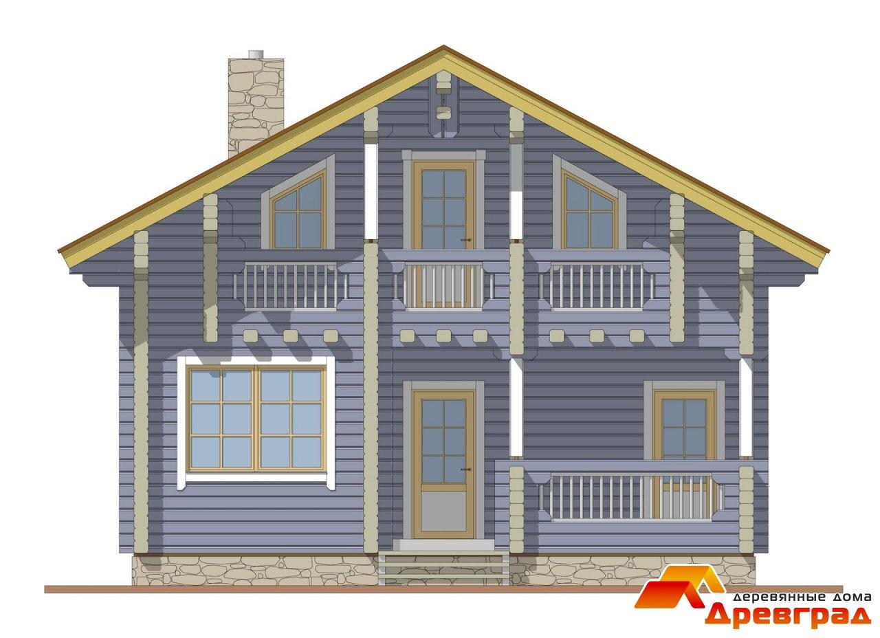 Дизайн в доме из клееного бруса