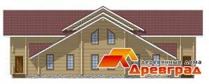 Небольшой дом из клееного бруса Юбилейный недорогой вариант оптимально для ипотечного кредита
