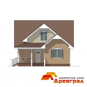 Каркасный деревянный дом «Конструктивизм»