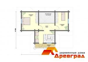 Планировка дома из оцилиндрованного бревна Успенское