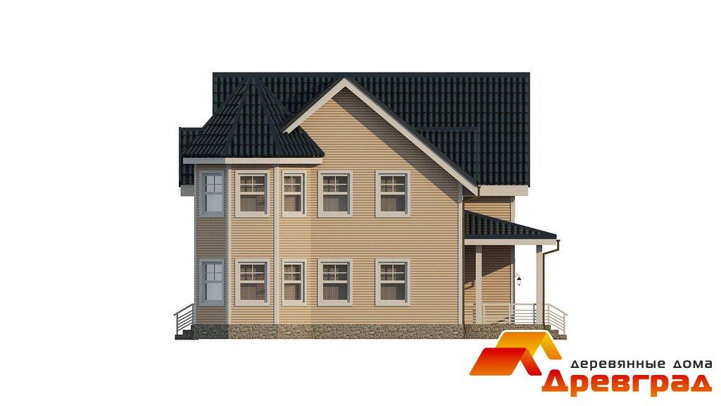 деревянный двухэтажный дом из бруса фото