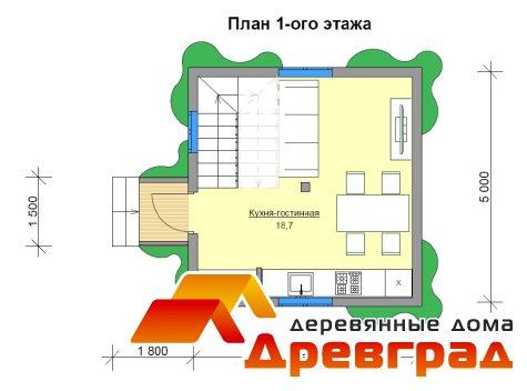 Деревянный каркасный дом «Мишкин лес»