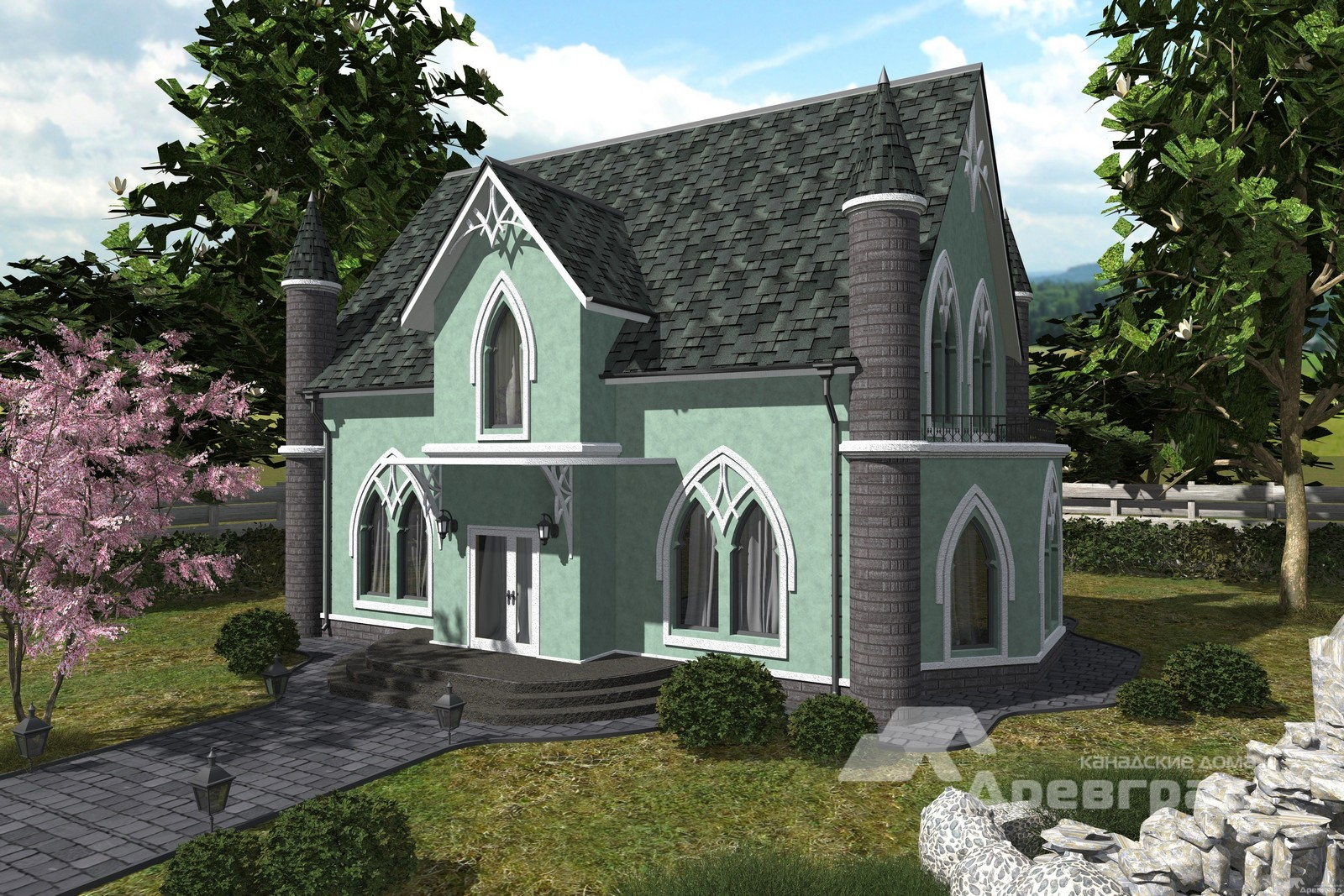 Аксонометрия канадского дома Зёльден