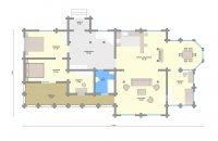 Архитектура коттеджа из клееного бруса Марьино Трехэтажный проект