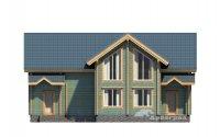 Профилированный брус в доме Зарайск Балкон в архитектуре