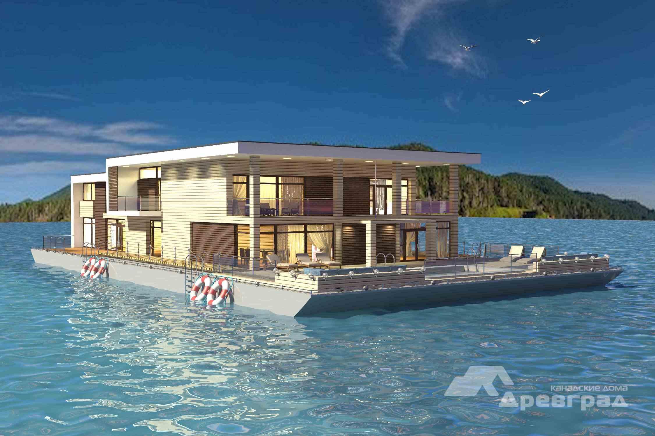 фото плавучий дом