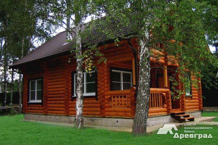 Фото домов из оцилиндрованного бревна за июнь 30