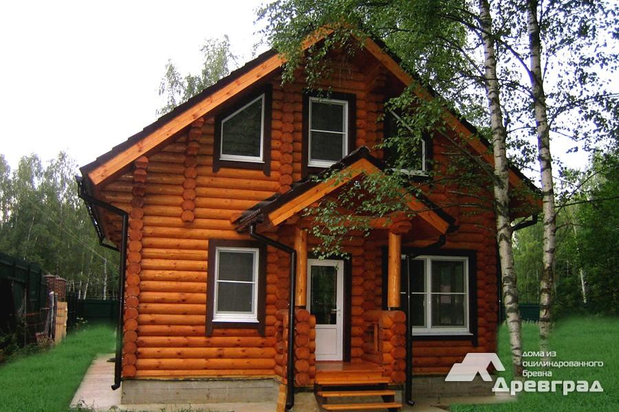 Фото домов из оцилиндрованного бревна за июнь 31
