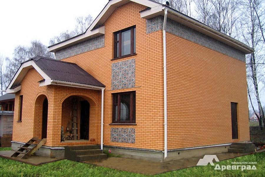 дом из бруса оцилиндрованное бревно фото