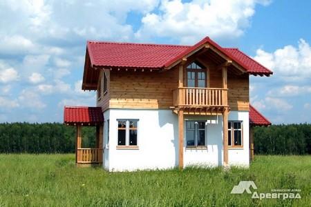 Оцилиндрованное бревно дома дачи