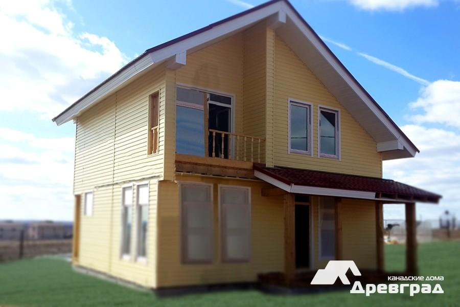 Фото деревянных каркасно-панельных домов по канадской технологии в Москве